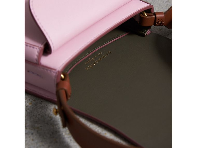 The Satchel in Leather in Pale Lavender - Women | Burberry Australia - cell image 4