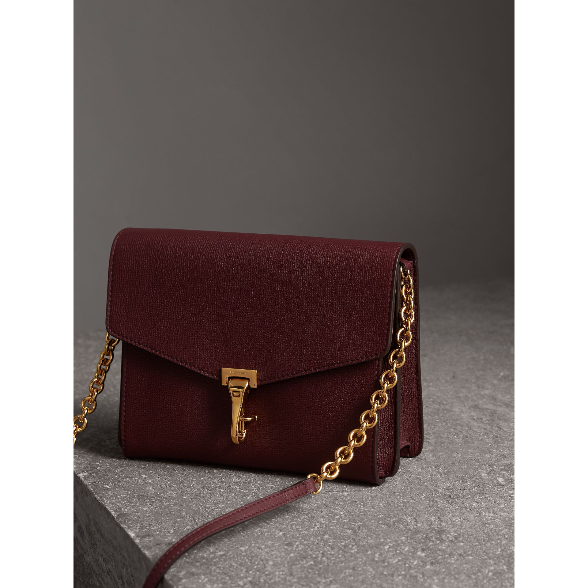 Small Leather Crossbody Bag in Mahogany Red - Women | Burberry - gallery image 7