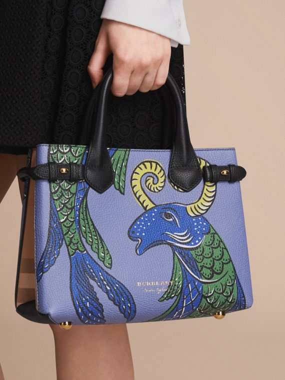 The Small Banner in Beasts Print Leather in Black - Women | Burberry Singapore - cell image 3