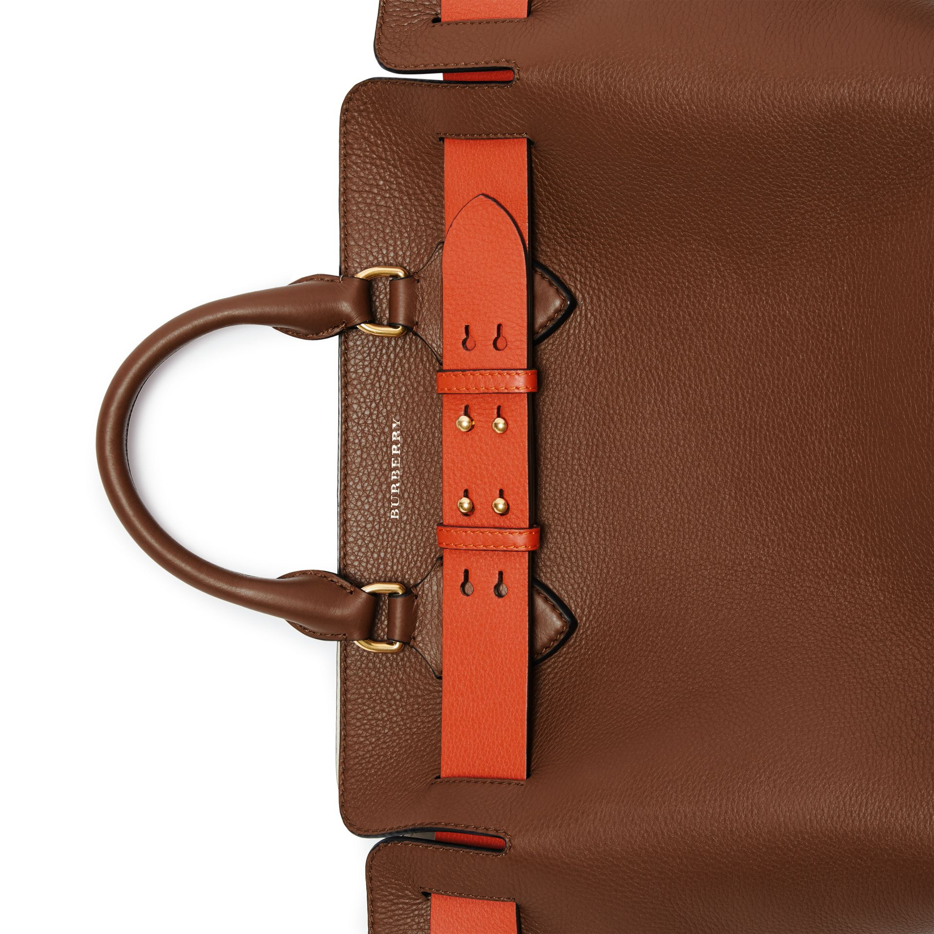 The Medium Leather Belt Bag in Tan - Women | Burberry Australia - gallery image 1