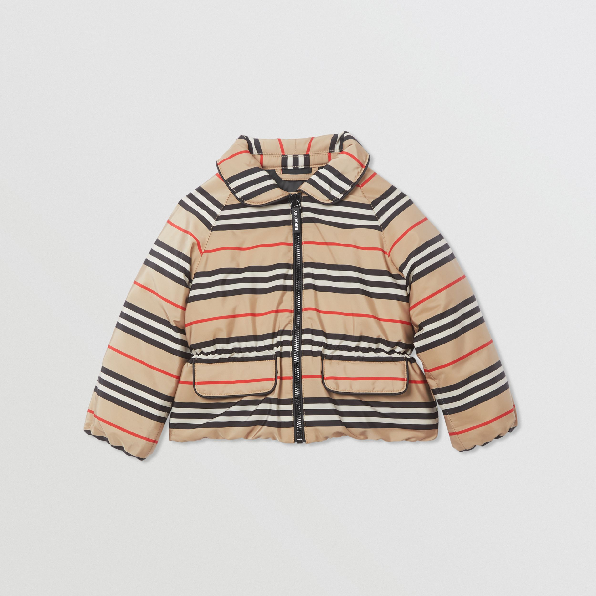 Icon Stripe Down-filled Jacket in Archive Beige - Children | Burberry - 1