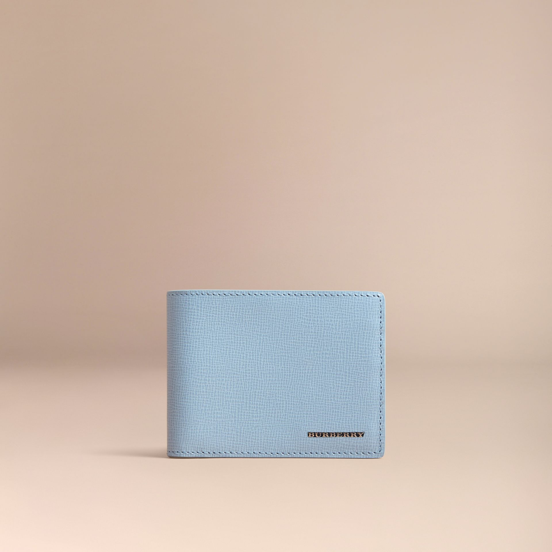 London Leather Bifold Wallet in Powder Blue - gallery image 6