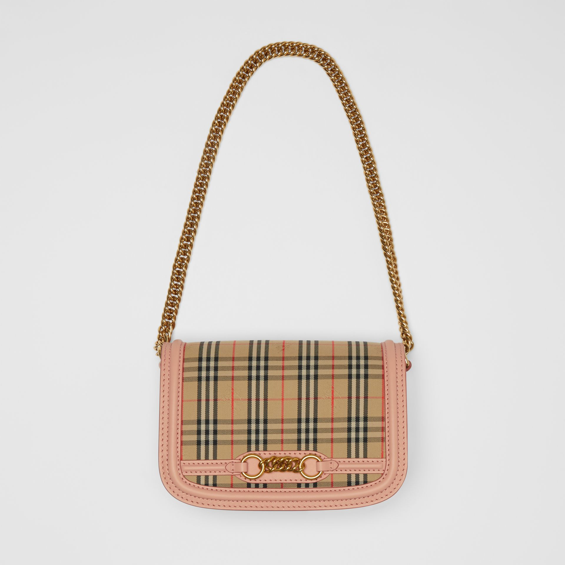 The 1983 Check Link Bag with Leather Trim in Peach - Women | Burberry - gallery image 4