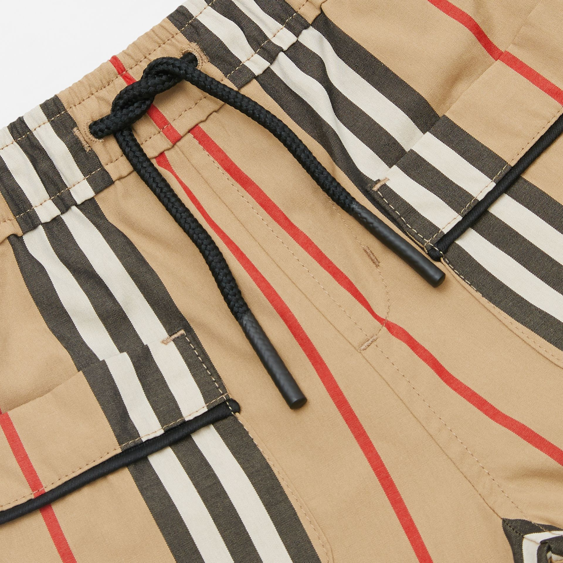 Icon Stripe Cotton Poplin Shorts in Archive Beige | Burberry - gallery image 1