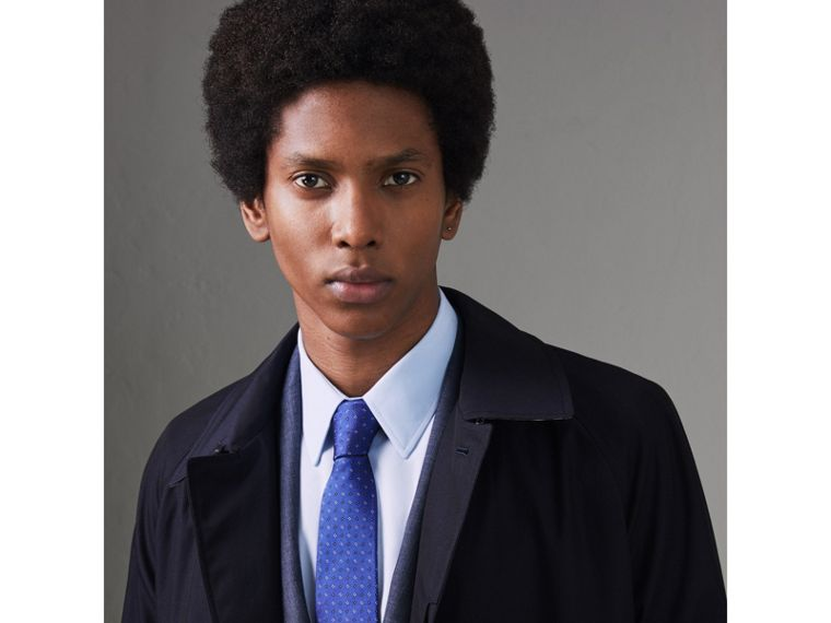Modern Cut Micro Square Silk Tie in Bright Cobalt Blue - Men | Burberry Singapore - cell image 2