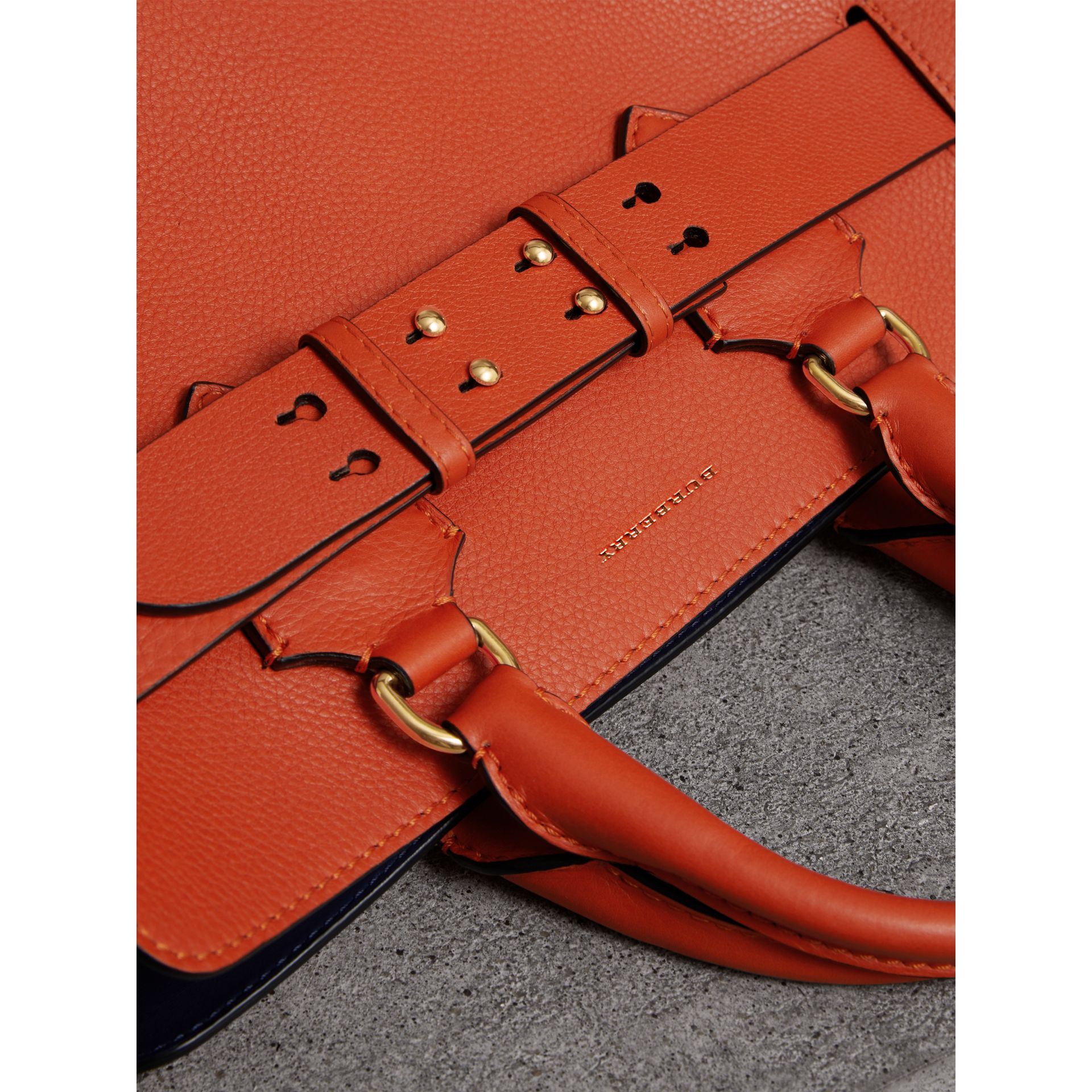 The Medium Leather Belt Bag in Clementine - Women | Burberry - gallery image 1