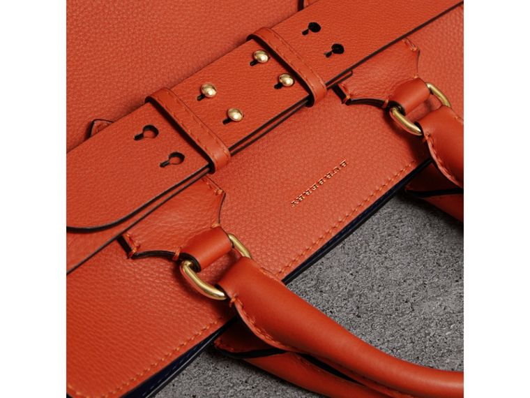 The Medium Leather Belt Bag in Clementine - Women | Burberry - cell image 1