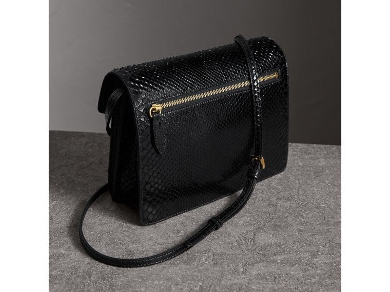 Small Python Crossbody Bag in Black - Women | Burberry United Kingdom - cell image 4