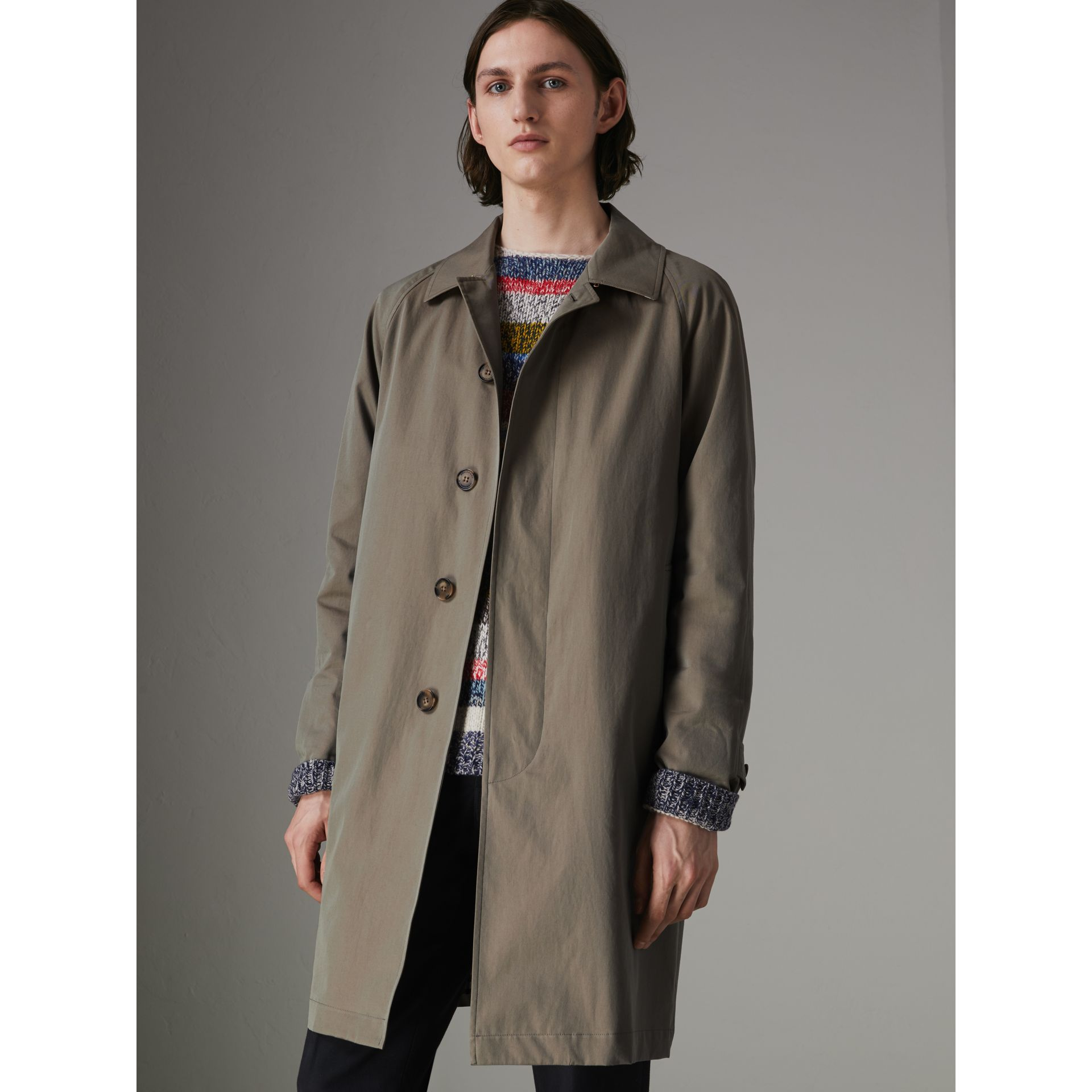 The Camden Car Coat in Chalk Green - Men | Burberry Canada - gallery image 5
