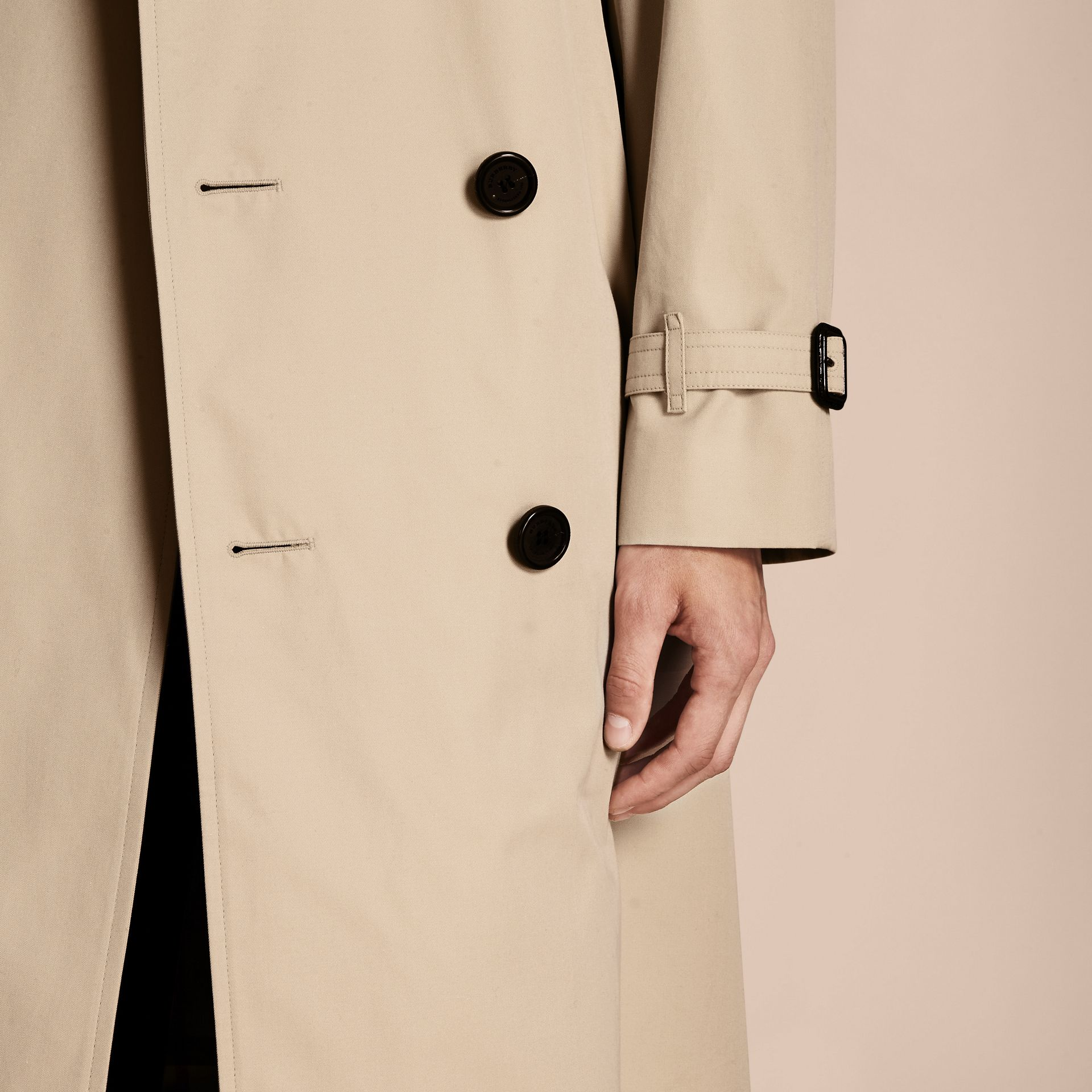 Stone The Westminster – Long Heritage Trench Coat Stone - gallery image 7