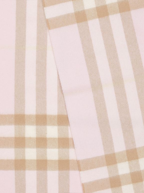 The Classic Check Cashmere Scarf in Alabaster | Burberry - cell image 1