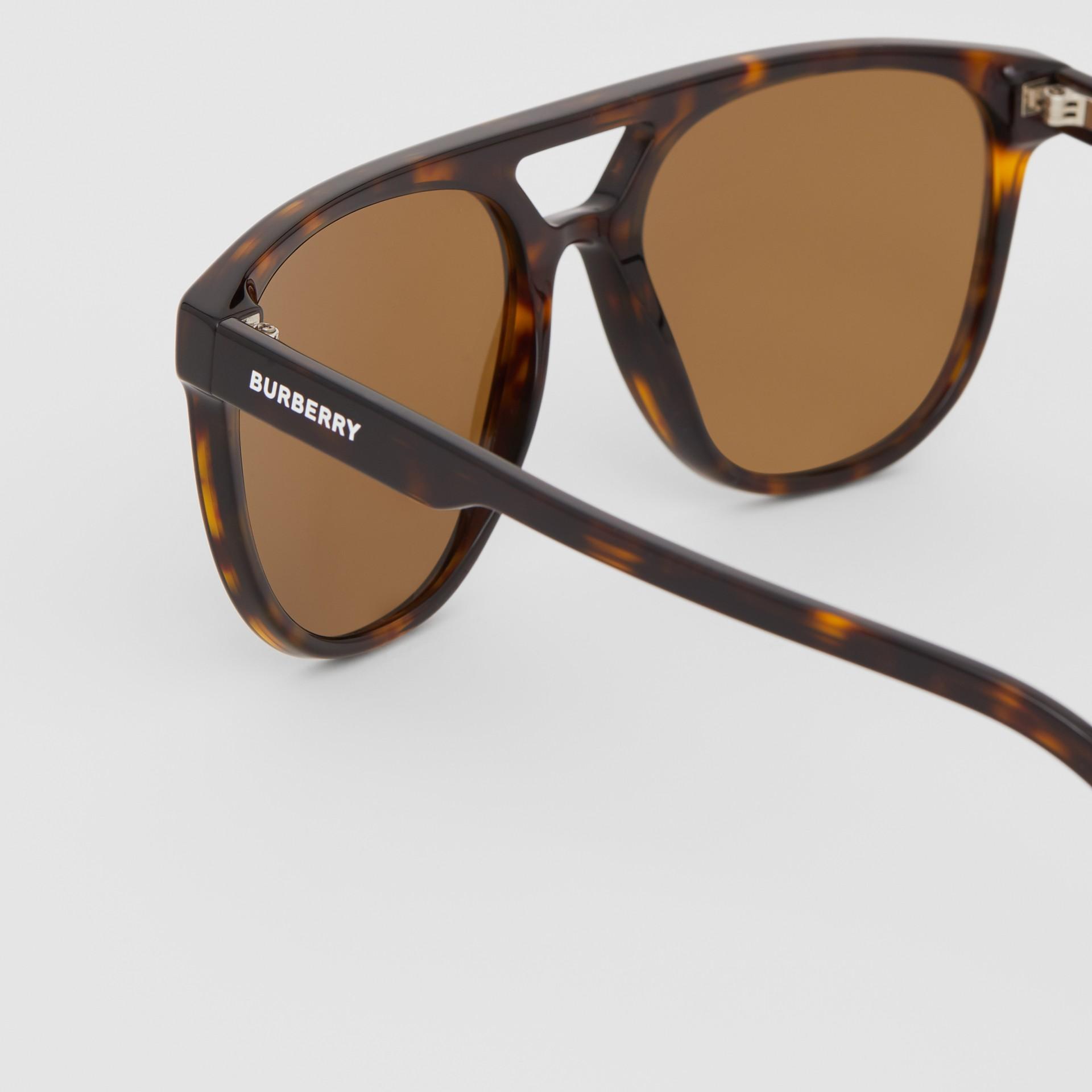 Navigator Sunglasses in Tortoiseshell - Men | Burberry - gallery image 1