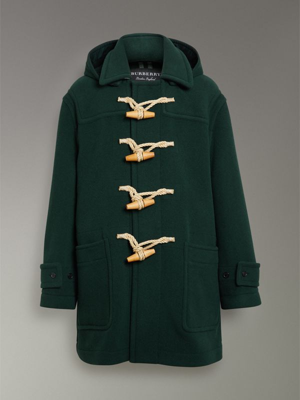 Gosha x Burberry Oversized Duffle Coat in Dark Forest Green | Burberry Australia - cell image 3