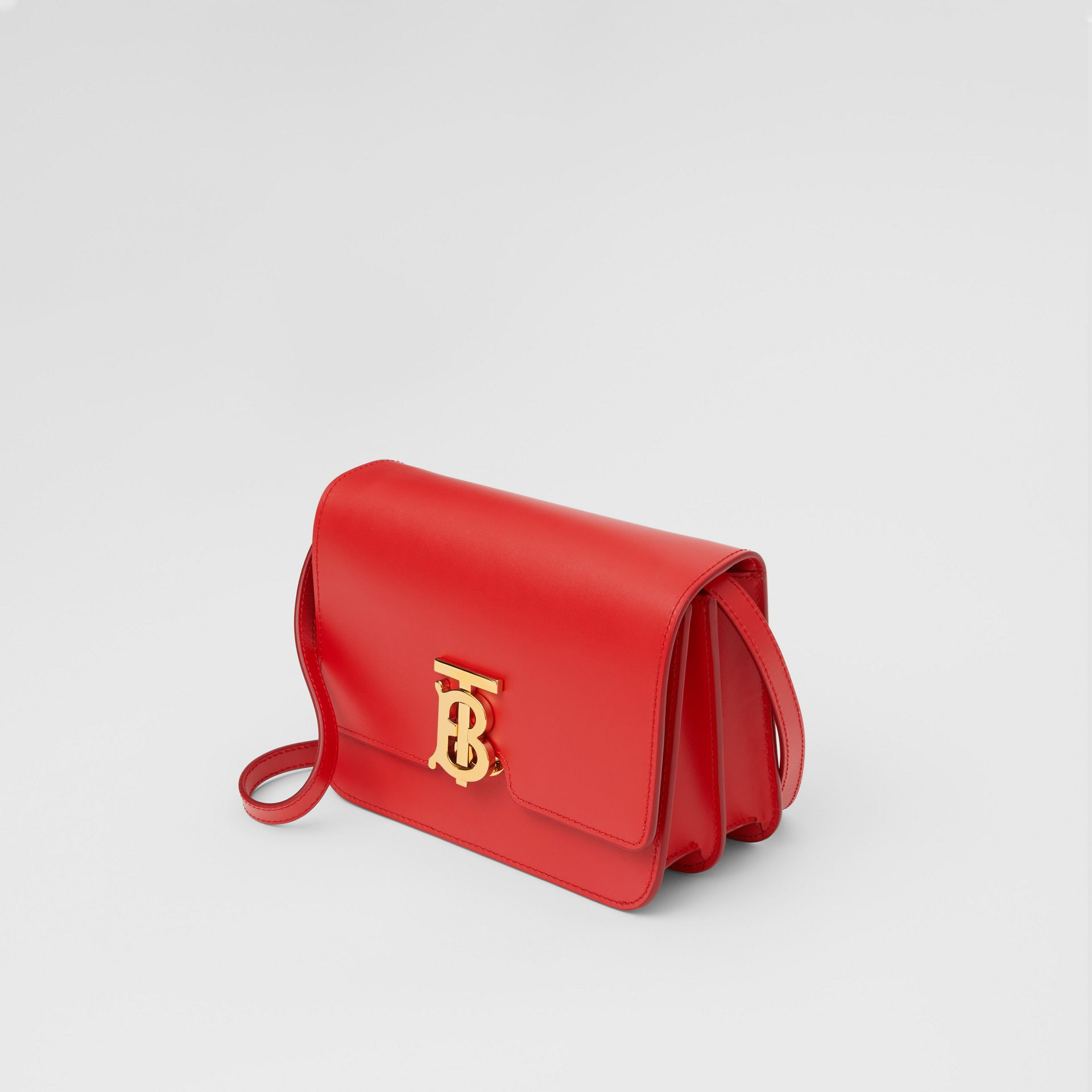 Small Leather TB Bag in Bright Red - Women | Burberry United Kingdom - gallery image 2