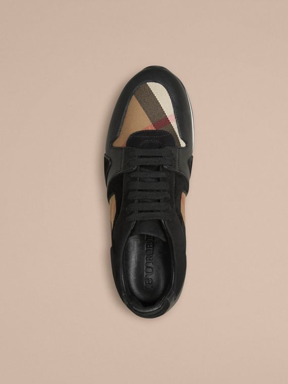 Black The Field Sneaker in House Check and Leather - cell image 2
