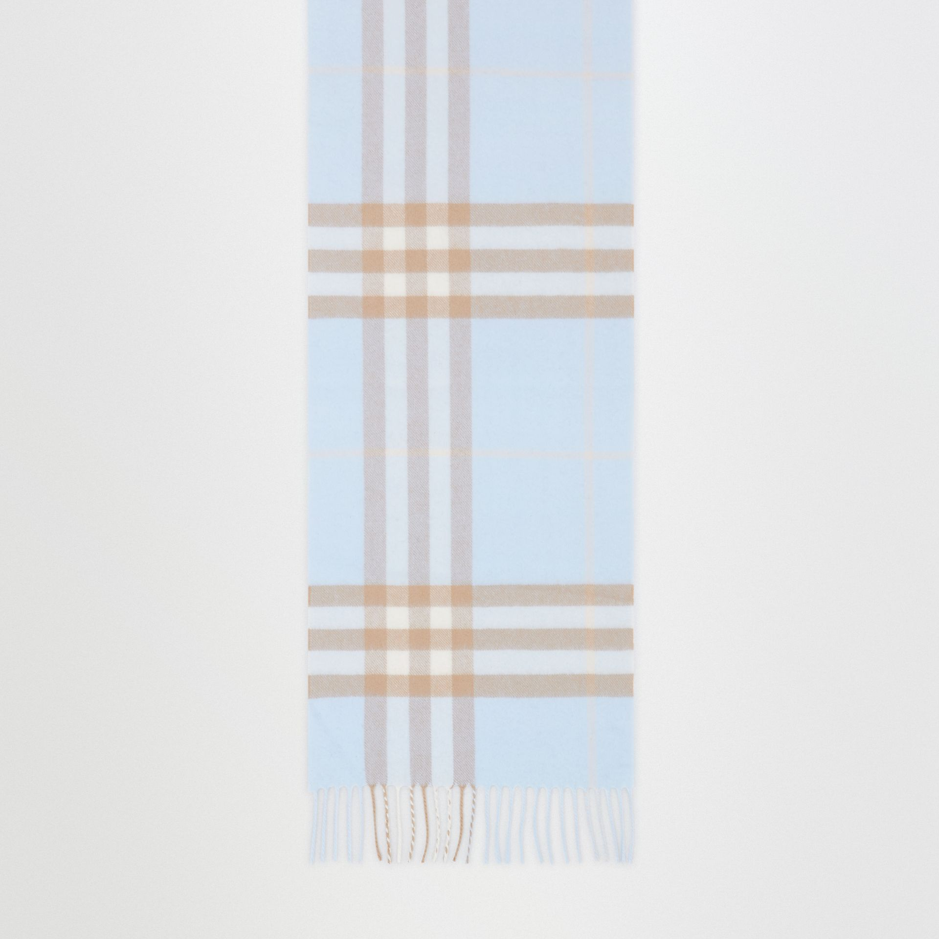 The Classic Check Cashmere Scarf in Blue | Burberry - gallery image 4