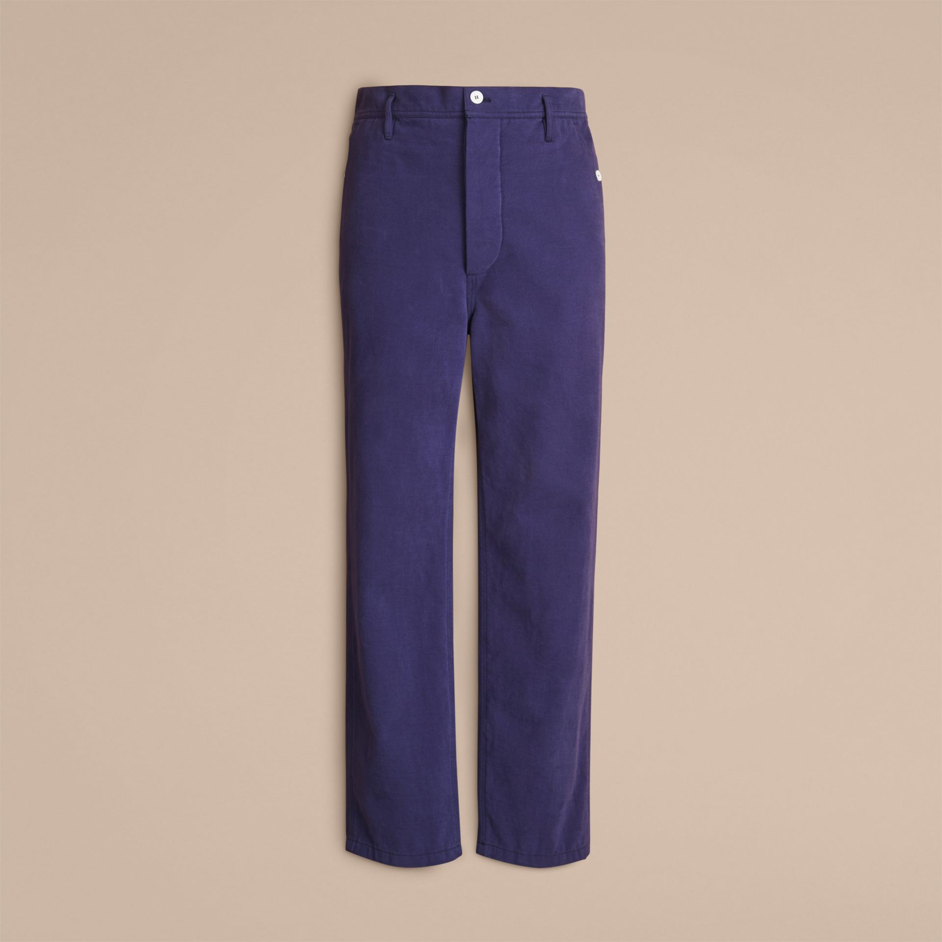 Cotton Cropped Artist Trousers - Men | Burberry - gallery image 4
