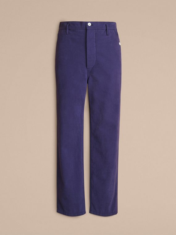 Cotton Cropped Artist Trousers - Men | Burberry - cell image 3