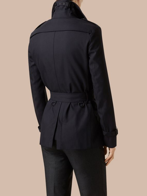 Ink Short Cotton Gabardine Trench Coat - cell image 2