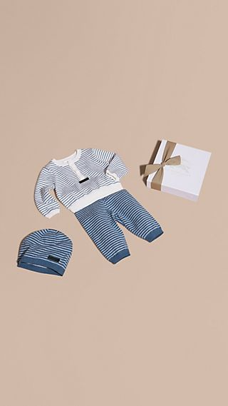 Cotton Cashmere Three-piece Baby Gift Set