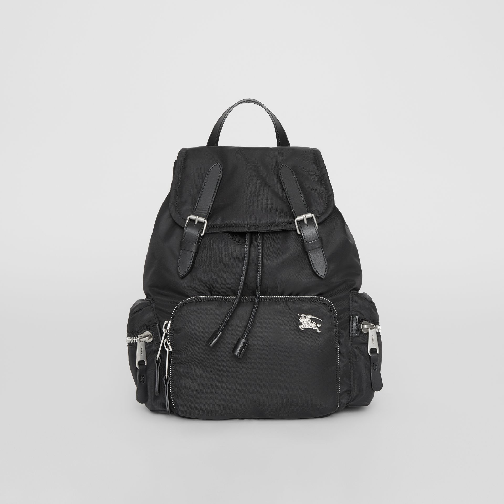 Sac The Rucksack moyen en nylon et cuir (Noir) - Femme | Burberry - photo de la galerie 0
