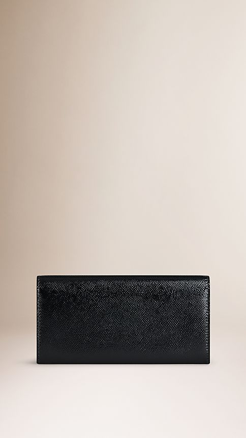 Black Patent London Leather Continental Wallet - Image 2