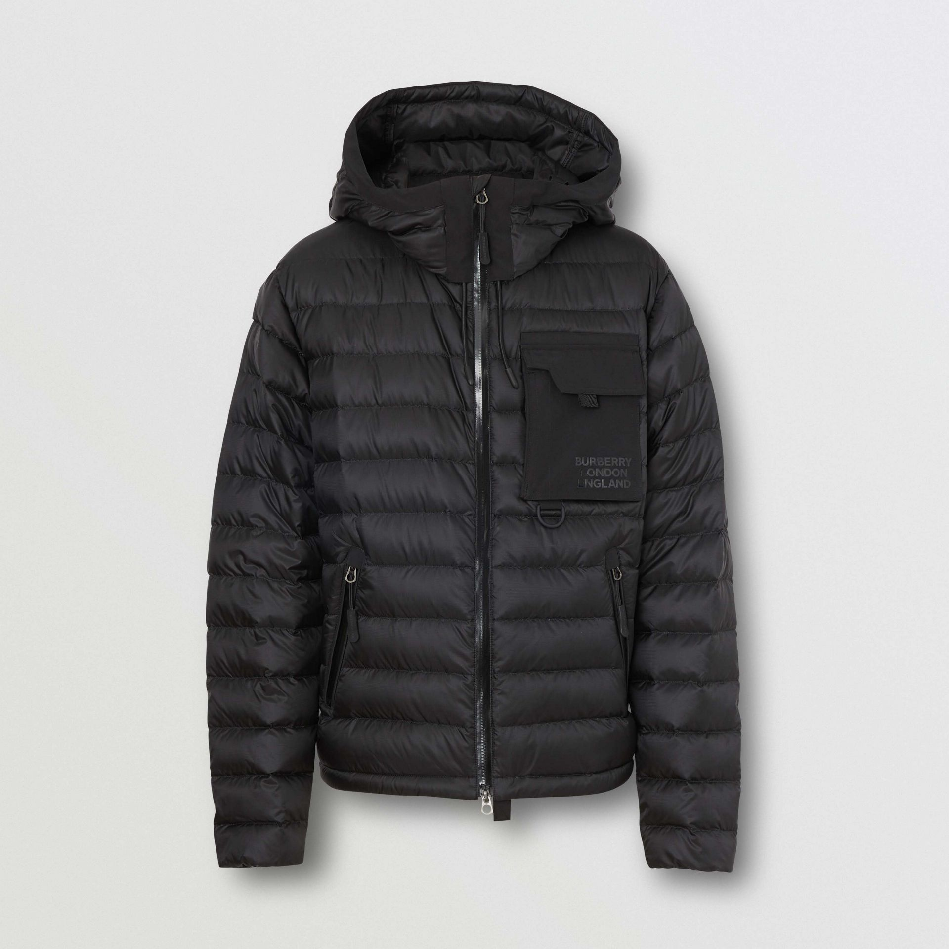 Down-filled Hooded Puffer Jacket in Black - Men | Burberry - gallery image 3