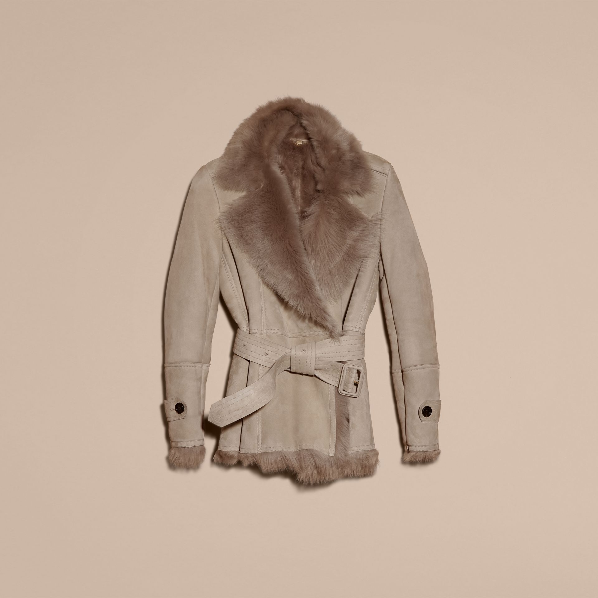 Shearling Wrap Jacket - gallery image 4