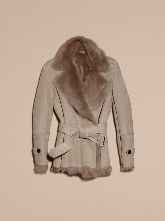 Shearling Wrap Jacket - cell image 3