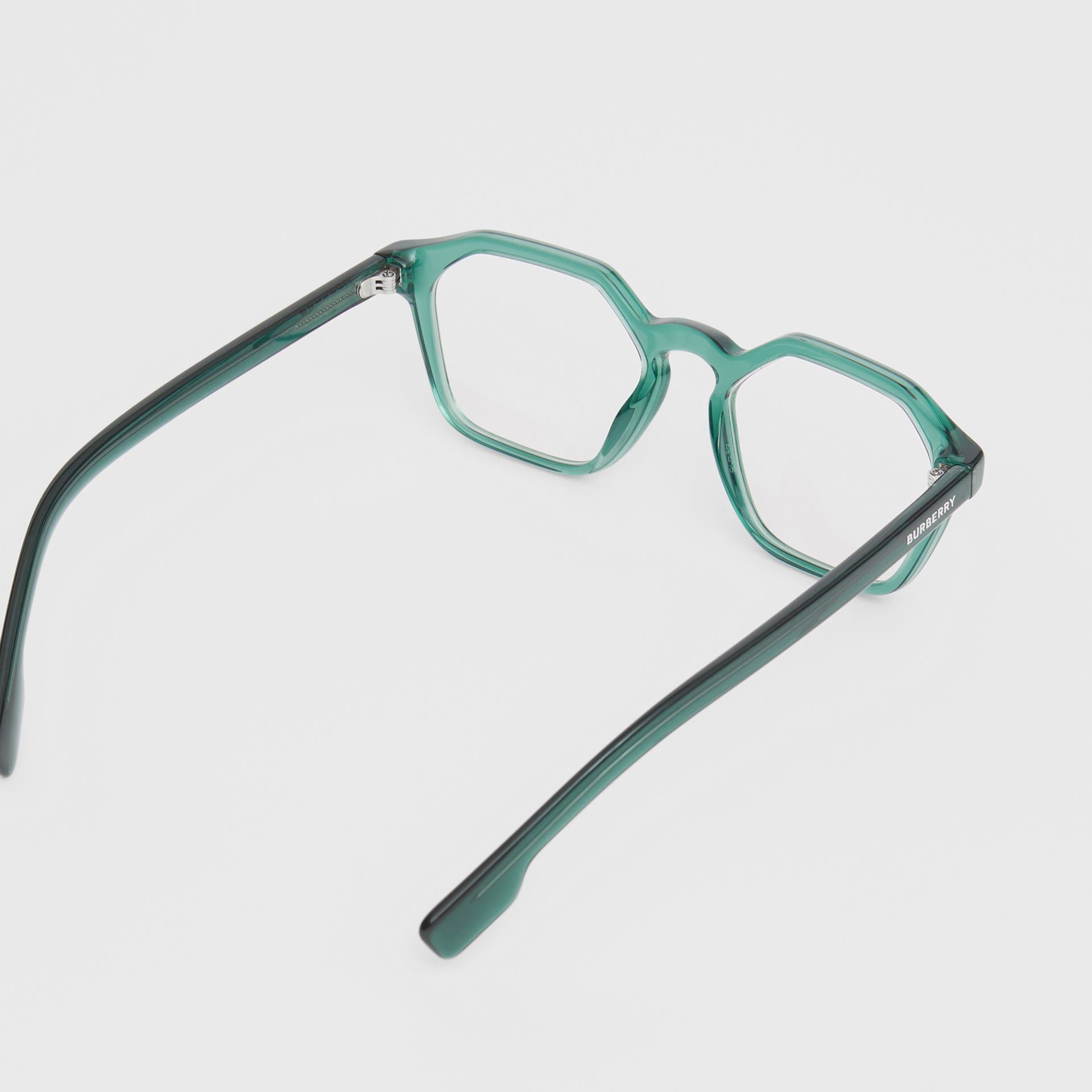 Geometric Optical Frames in Green - Women | Burberry United Kingdom - gallery image 3