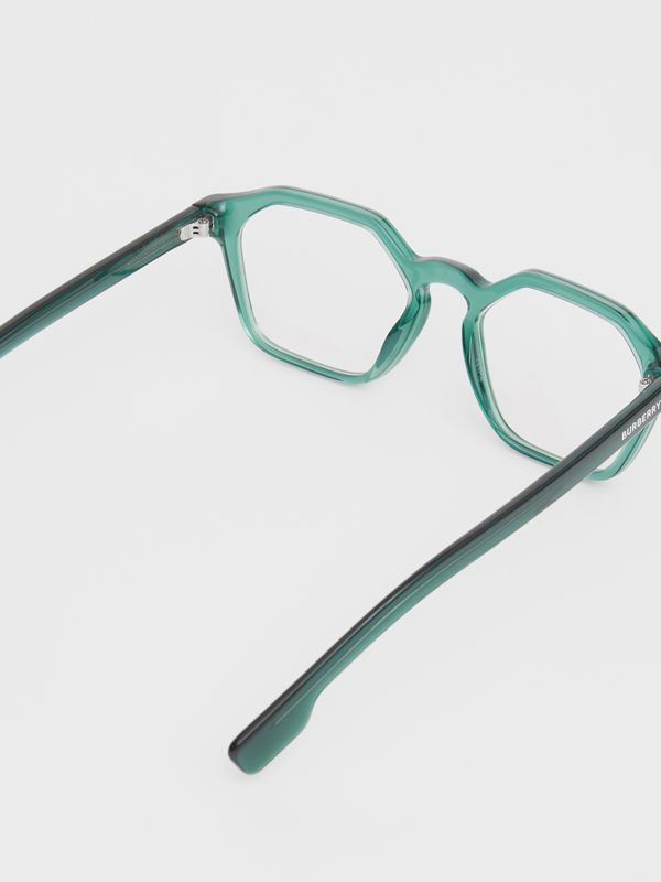 Geometric Optical Frames in Green - Women | Burberry United Kingdom - cell image 3