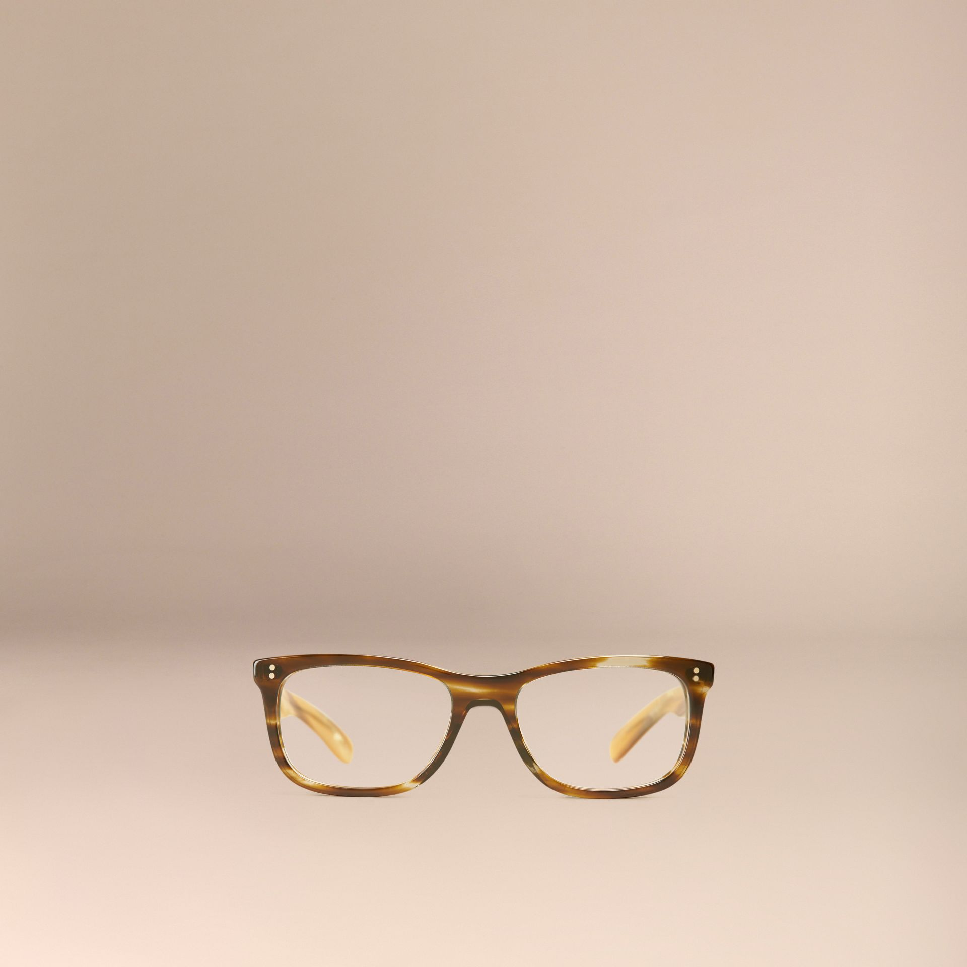 Square Optical Frames Dark Brown Horn - gallery image 5