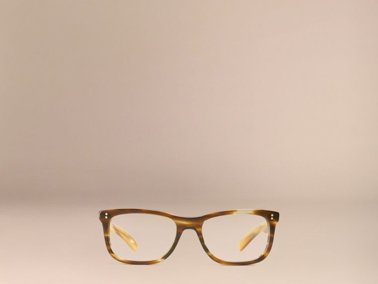 Square Optical Frames Dark Brown Horn - cell image 4