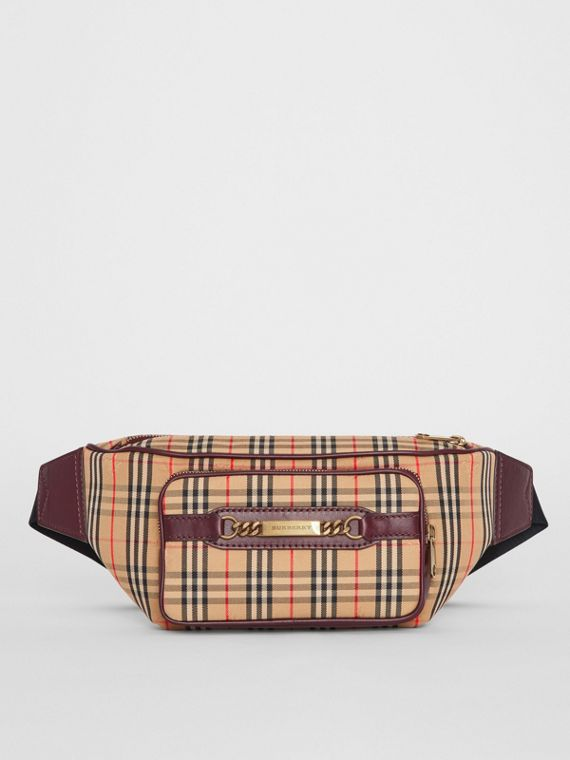 The Large 1983 Check Link Bum Bag in Oxblood