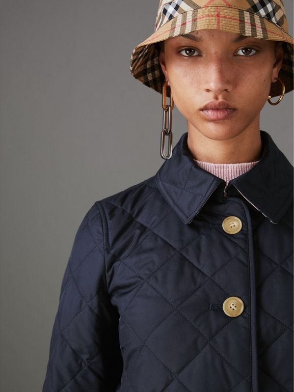 Diamond Quilted Jacket in Navy - Women | Burberry - cell image 1