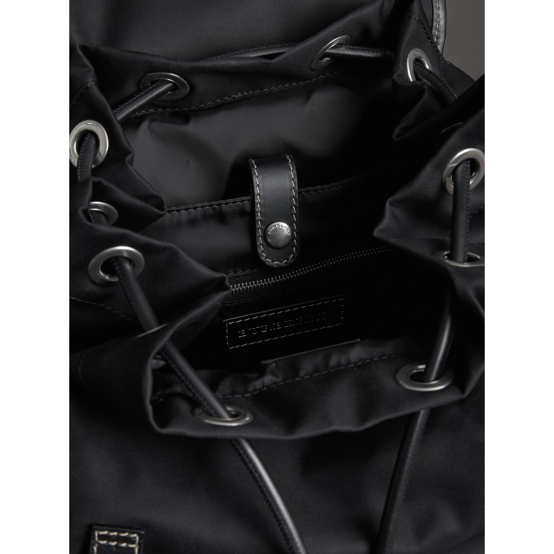 The Large Rucksack in Cotton Canvas in Black - Men | Burberry United Kingdom - gallery image 3