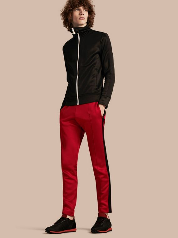 High-shine Track Pants Cranberry Red