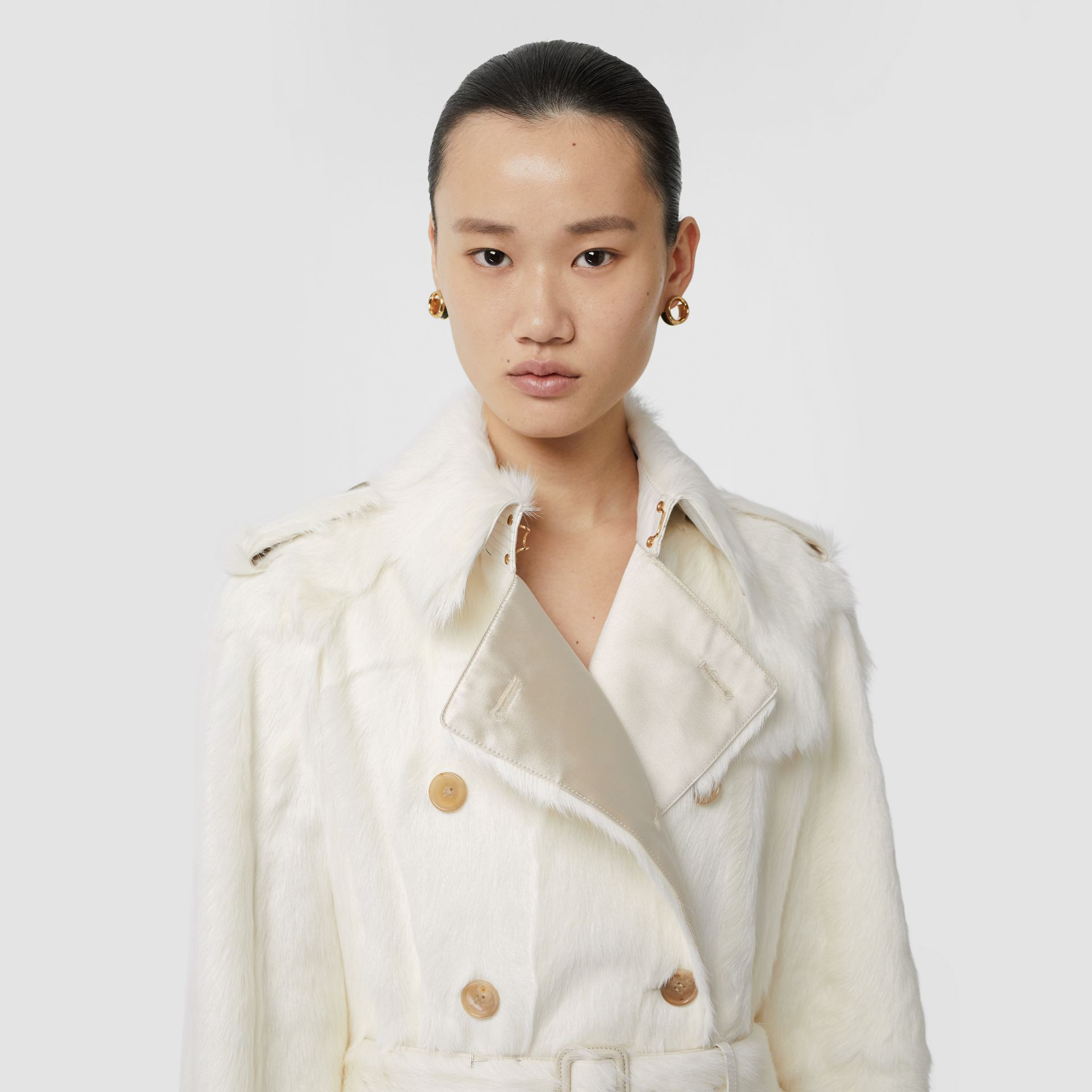 Goat Trench Coat in Ecru - Women | Burberry Singapore - gallery image 1
