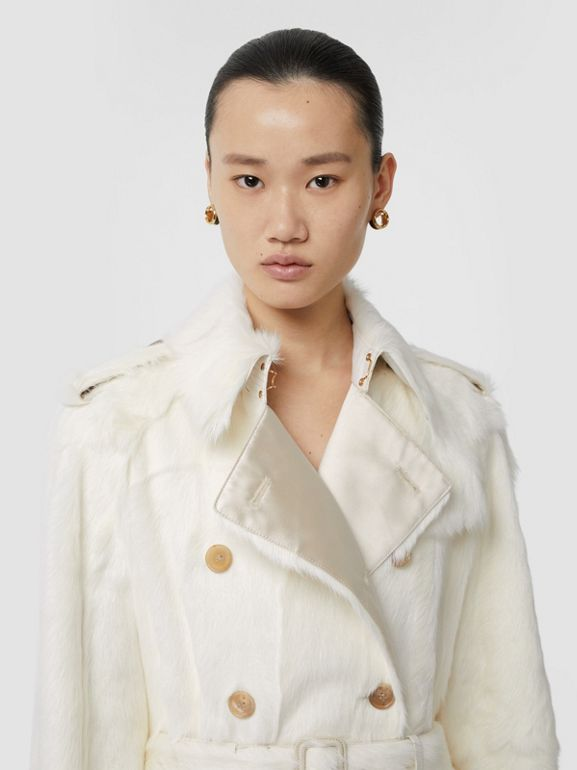 Goat Trench Coat in Ecru - Women | Burberry United Kingdom - cell image 1