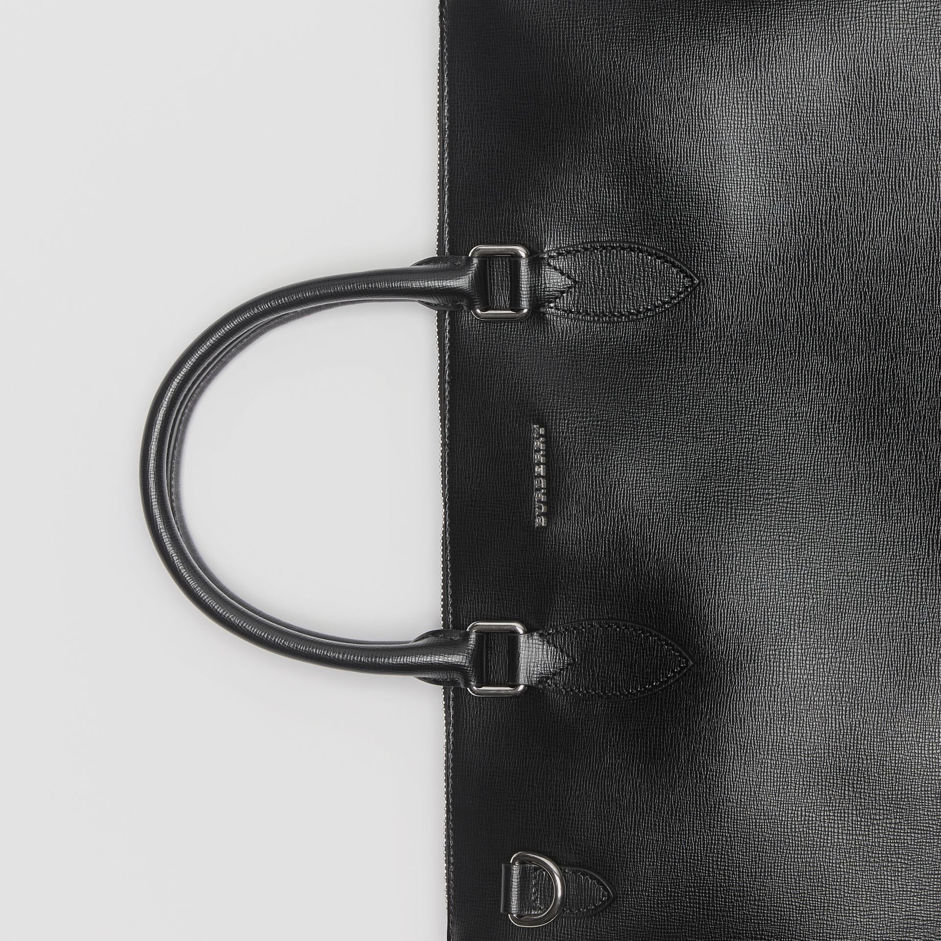 Large London Leather Briefcase in Black - Men | Burberry Canada - gallery image 1