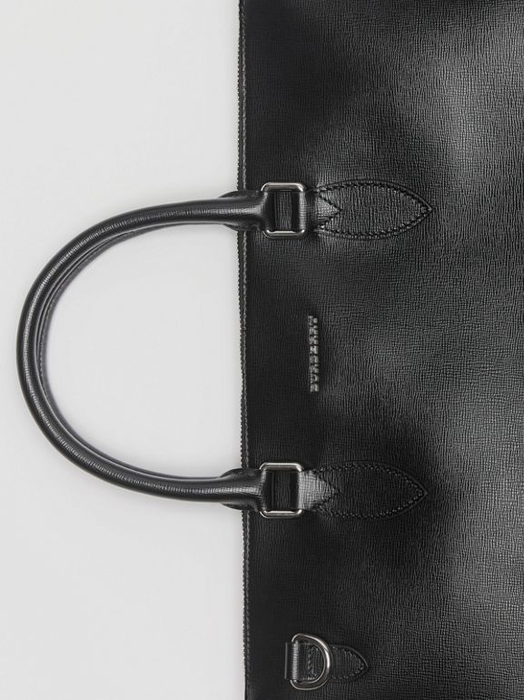 Large London Leather Briefcase in Black - Men | Burberry Canada - cell image 1