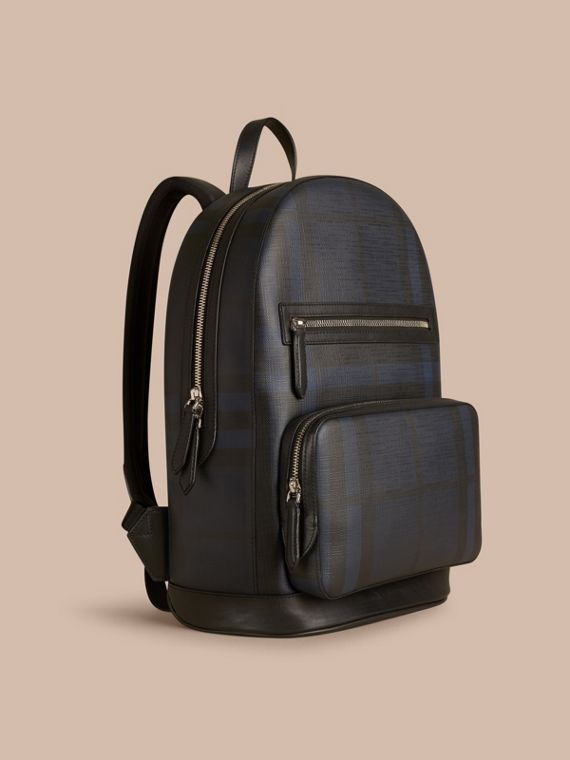 London Check Backpack Navy/black