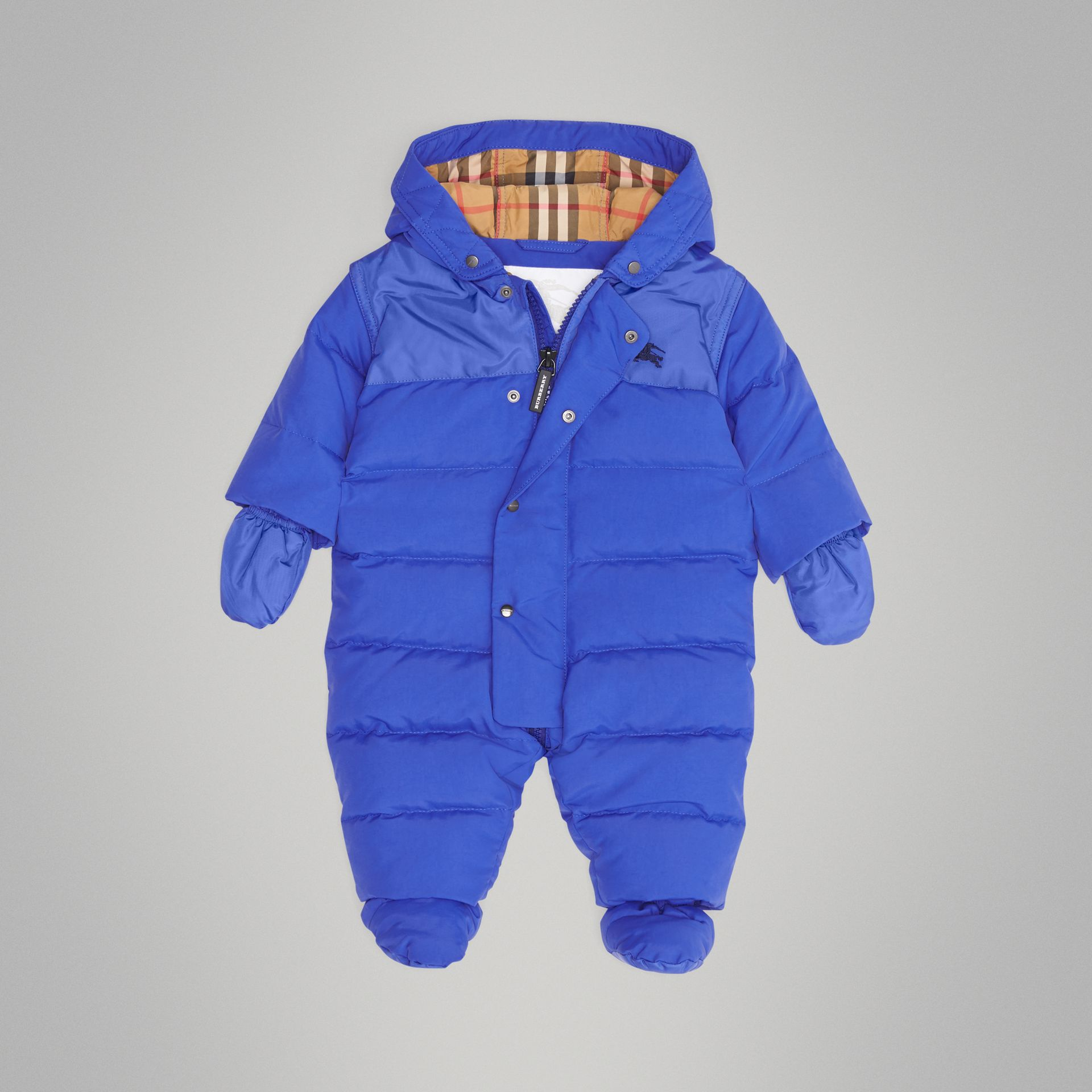 Down-filled Puffer Suit in Royal Blue - Children | Burberry United Kingdom - gallery image 2