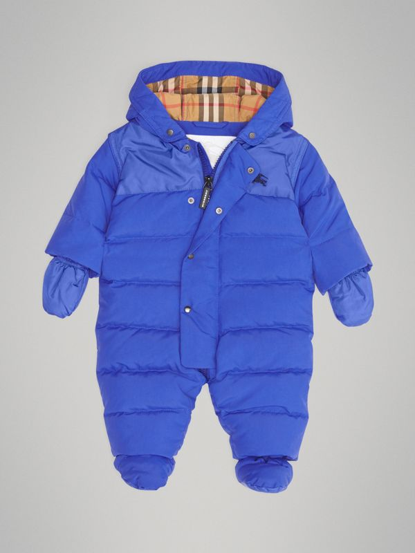 Down-filled Puffer Suit in Royal Blue - Children | Burberry - cell image 2