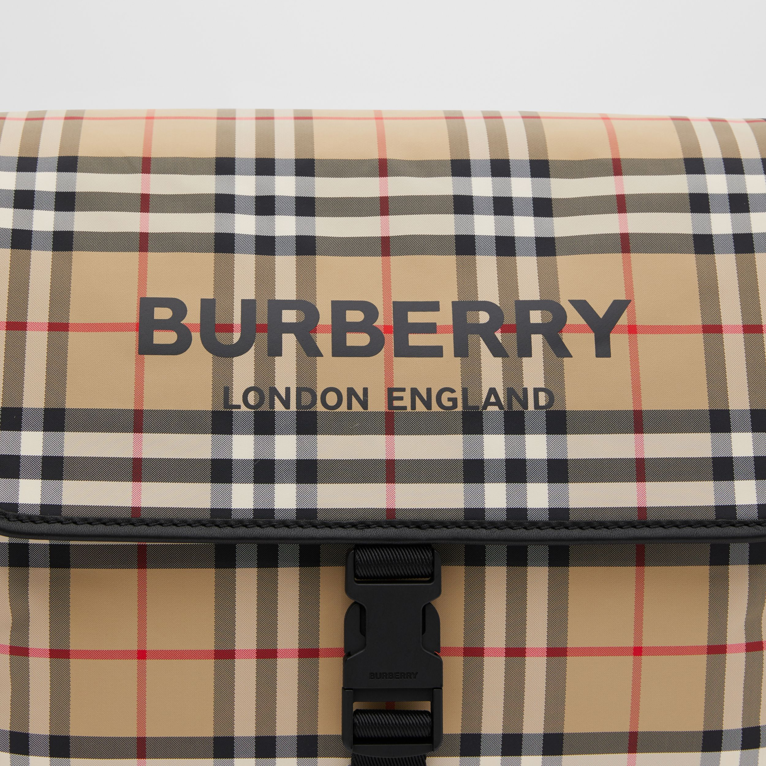 Vintage Check ECONYL® Baby Changing Bag in Archive Beige - Children | Burberry - 2