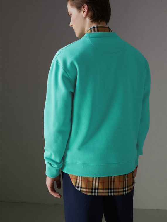 Sweat-shirt en jersey revisité (Aqua) - Homme | Burberry Canada - cell image 2