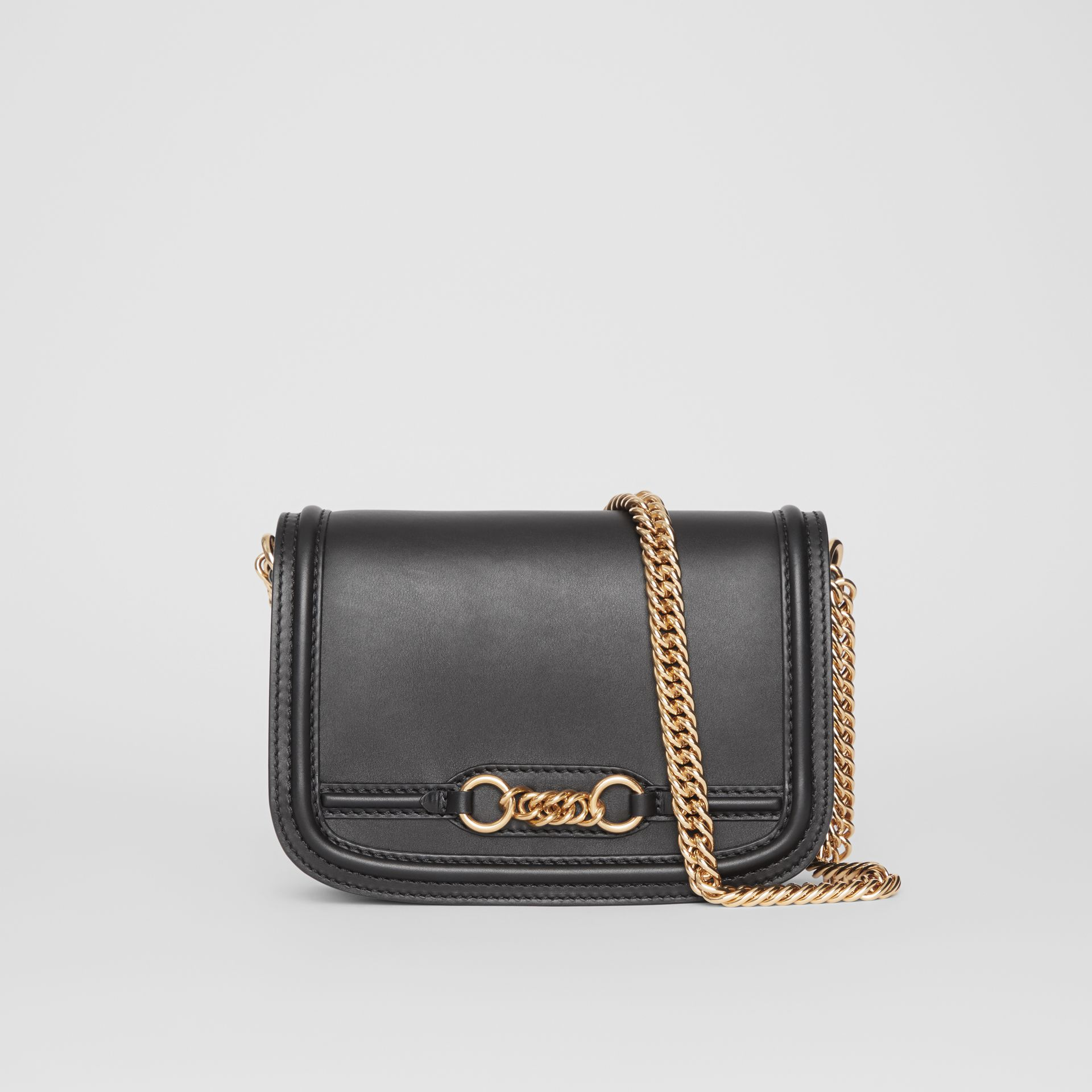 The Leather Link Bag in Black - Women | Burberry - gallery image 0