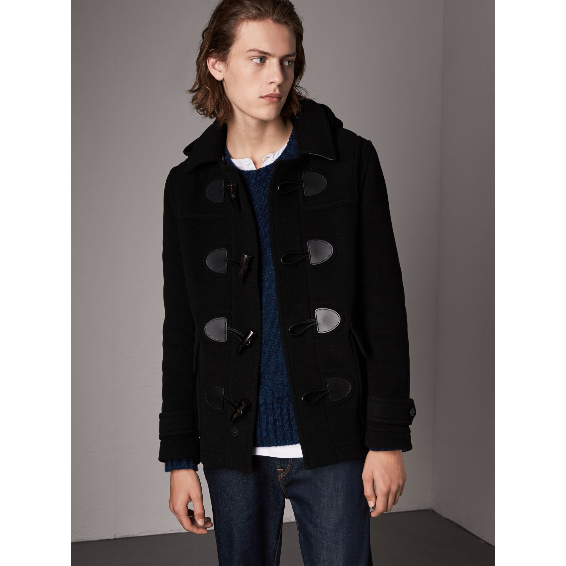 The Plymouth Duffle Coat in Black - Men | Burberry - gallery image 1