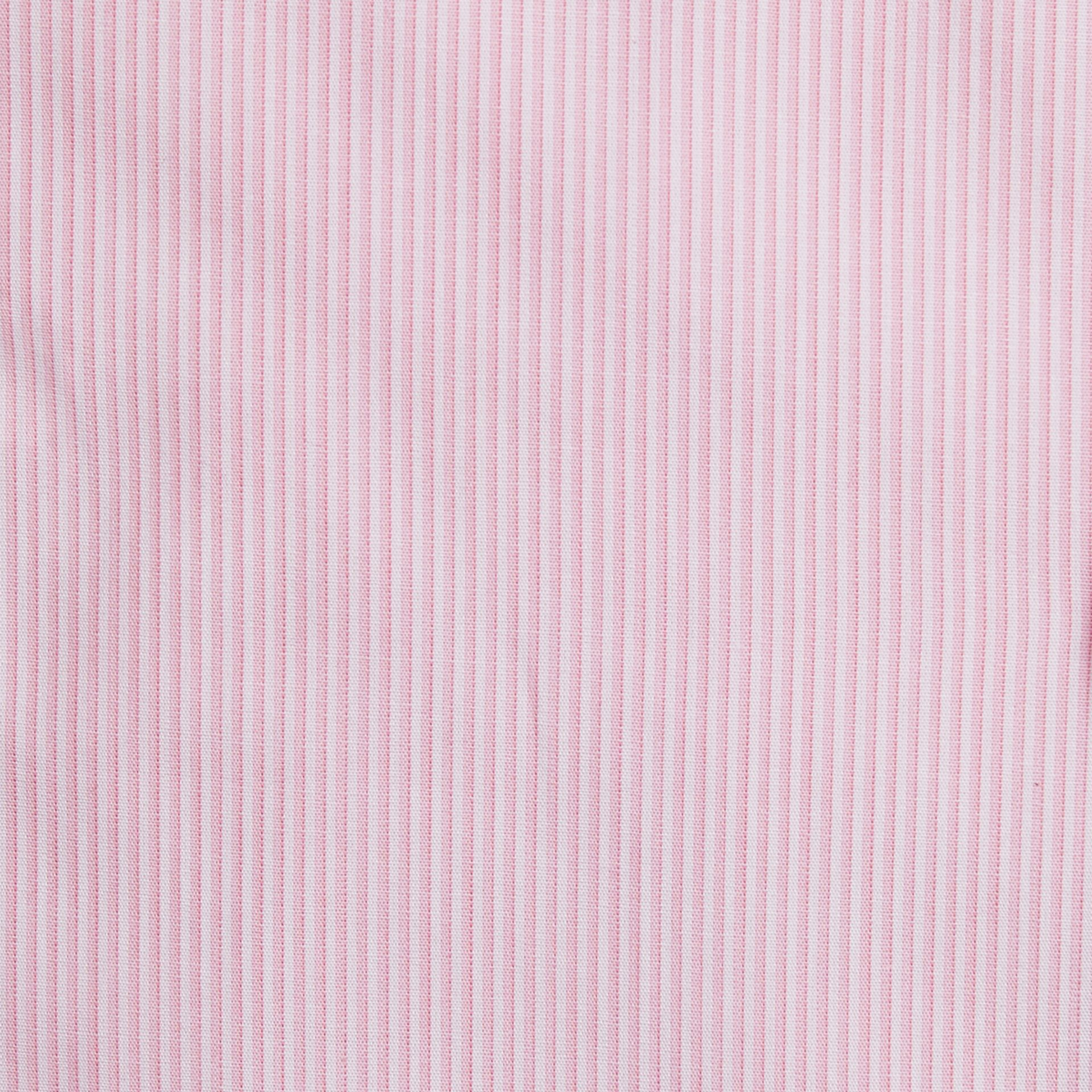 Slim Fit Striped Cotton Poplin Shirt in City Pink - Men | Burberry - gallery image 2