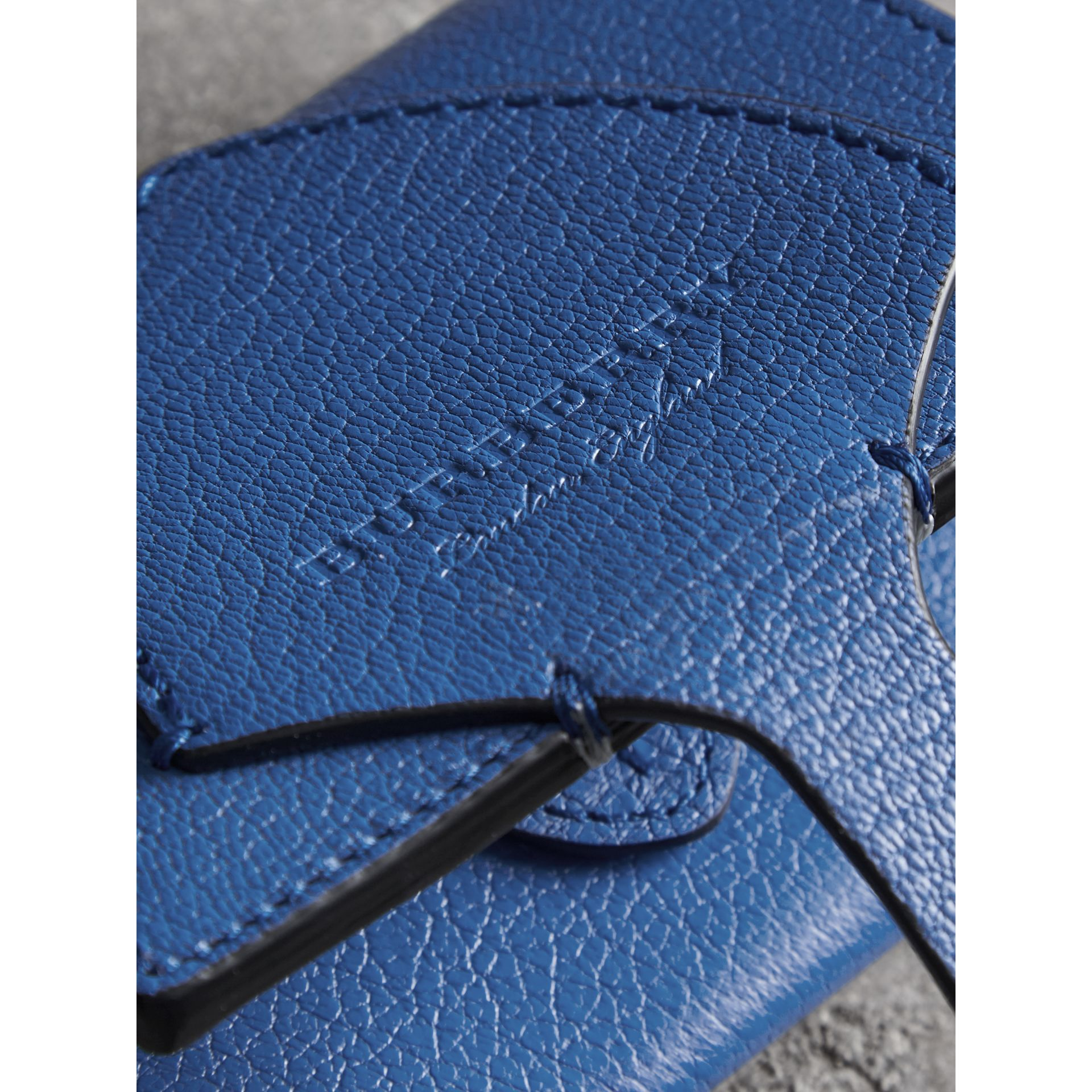 Equestrian Shield Two-tone Leather Folding Wallet in Hydrangea Blue - Women | Burberry Australia - gallery image 1